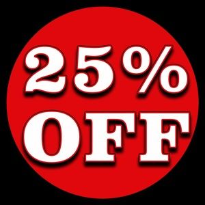 25% off 4 items!